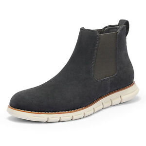 Bruno Marc  Men's Suede Leather Chelsea Boots Casual Ankle Pull-On Classic Shoes