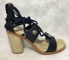 90e9c5453a1b RAG   BONE Women s Eden Navy Leather Block Heel Sandal Size 37.5  450 ...