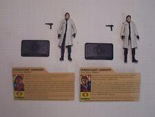 GI Joe 25th Anniversary CUSTOM Crimson Guard Twins Tomax & Xamot(lab coats)