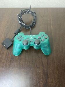 Official Sony PlayStation 2  DualShock 2 Clear Green PS2 Controller