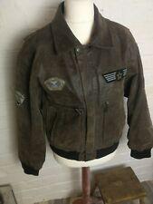 Men's B3 Leather Brown Leather Aviator Flying Jacket EU46 Le Frog