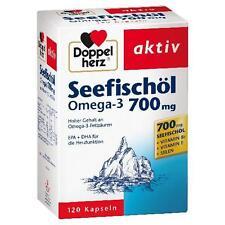 DOPPELHERZ Seefischöl Omega-3 700 mg Kapseln 120 St PZN 6583646