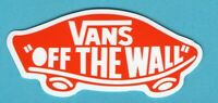 """2 Vans """"Off the Wall"""", Red, Vinyl Stickers"""