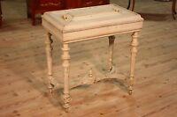 Tavolino antico legno laccato mobile tavolo da salotto fioriera antiquariato 800