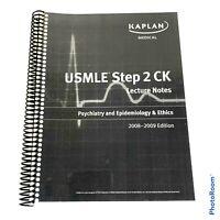 Kaplan USMLE Step 2 CK Psychiatry Epidemiology Ethics 2009