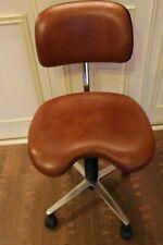 Rare Vintage 1978 Swedish rolling chair stool RH support Ralf Holstensson