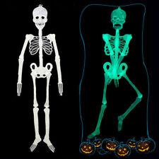 90/150cm Colgante Luminoso esqueleto humano fiesta de Halloween Decoración Aterrador Calavera