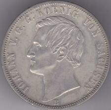 GERMANY Saxony 1871 THALER Victory SILVER COIN German States Taler