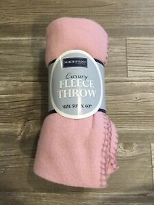NWT Northpoint Fleece Baby Throw Blanket Pink Size 50 X 60 NEW Soft B3