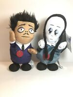 "Animated and singing 9"" Plush Addams Family Runner Wednesday & Gomez/FREE SHIP!"
