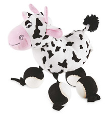 Large Size Plush Cow - Dog/Puppy Toy - TenniShoes Tennis Ball Feet with squeak