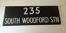 """Routemaster Linen Bus Blind 36""""- 235 South Woodford Station"""