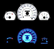 NEW 95-98 Ford Contour w/o Tach Blue Indiglo Glow White Gauges 95 96 97 98