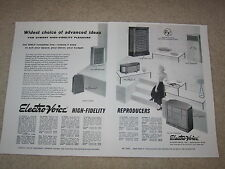 Electro-Voice 1954 Ad, Patrician, Georgian, Regency, Aristocrat, Skylark, Articl