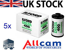5 Pack: Ilford Delta 400 35mm 36 Exposure ISO 400 Black & White Film, New