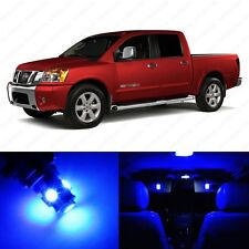 12 x Ultra Blue LED Interior Light Package For 2004 - 2013 Nissan Titan