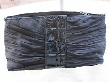Small Black Cocktail Party & Evening Cluth Hand Bag Nylon Satin New