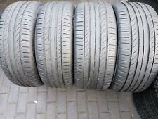 4x Summer Tyres Continental Conti Sport Contact5 225/50/18 255/45/18 R18 Runflat
