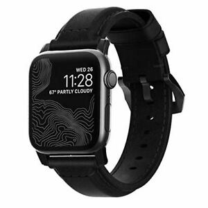 Nomad Traditional Leather Watch Strap 44 / 42mm Black Apple Series Watch Strap