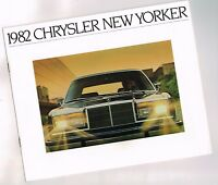 1982 Chrysler NEW YORKER / 5th Fifth Avenue Brochure / Catalog w/ Color Chart