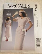 "New McCall's Sewing Pattern M7153 ""Archive Collection 1933"" 1930s Style 6 - 14"