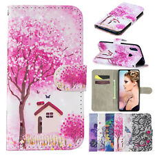 For SAMSUNG Galaxy Case Pattern Magnetic Stand Leather Wallet SKIN Cover