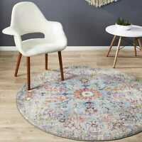 Harper Boho Traditional Multi Colour Modern Round Rug - 3 Sizes *FREE DELIVERY**