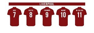 5 x Custom Personalised Football Shirts Decal Wall Sticker Picture Poster