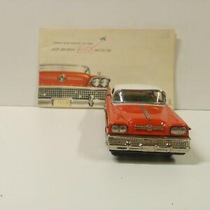 Bandai Japan Tin 1958 Buick Includes an Original Sales Brochure