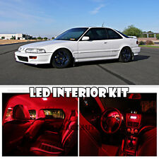 90-93 Acura Honda Integra DA DB RED LED Interior Bulb Light Full Package Kit 6pc