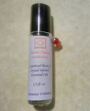 SACRAL CHAKRA Balancing Crystal Enhanced Essential Oil Blend Wicca Roll On Reiki