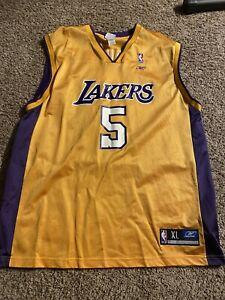 Robert Horry #5 Los Angeles Lakers NBA Champion Jersey XL EUC