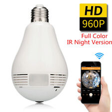 *360° Panoramic HD 960P WIFI Security Light Bulb IR Night Version Hidden Camera