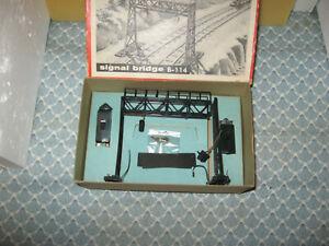 HO SCALE VINTAGE IDEAL MODELS SIGNAL BRIDGE KIT!