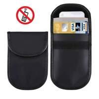 AMZER PU Leather Bag Front Pocket RFID Blocking Slim Mini Card Holder Purse