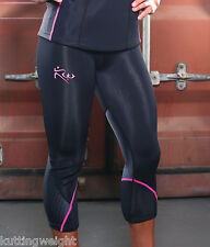 Kutting Weight Sauna Suit Neoprene Weight Loss Black & Pink Exercise Capri Pants