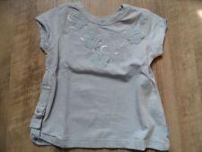 PAMPOLINA schönes T-Shirt hellblau m. Stoffblumen Gr. 86 TOP ST817