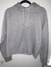PRIMARK Cropped Sweat Hoodie  Jumper Top Grey Size X Large