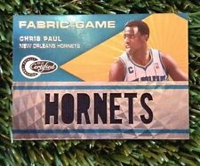 2011-12 TOTALLY CERTIFIED CHRIS PAUL FABRIC OF THE GAME PATCH PRIME LETTERS /10