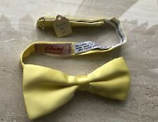 Vintage BRIONI Yellow 100% Silk Bow Tie Handmade in Italy