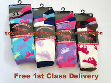 12 Pairs Sockaholic Ladies Womens Summer Cotton DESIGNER Socks UK 4-7 EU 35-39 Horses