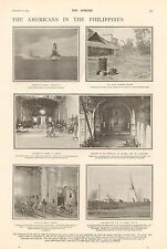 1900-ANTIQUE PRINT-THE AMERICANS IN THE PHILIPPINES