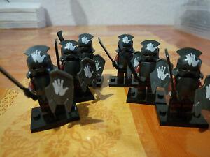 Herr der Ringe lord of the ring hobbit uruk hai / lurtz figuren lego kompatibel