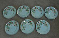 "Lot Of 7 AVON Strawberry Plates 7 1/2"" Vintage 1978"