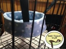 cosy 10 inch Round hammock. ferret,rat,chinchilla,degu.small Pet. Baby Blue Star