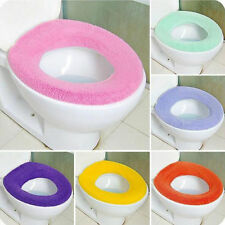 1Pc Bathroom Candy Color Warmer Cloth Soft Seat Pads Washable Toilet Seat Cover
