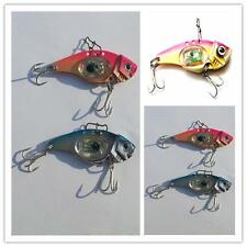 New Metal LED Light Fishing Lures Bass CrankBait Spoon Crank Bait Hook Tackle MR