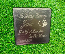 More details for memorial plaque for pet cat dog slate marker personalised grave stone