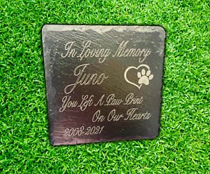 Memorial Plaque For Pet Cat Dog Slate Marker Personalised Grave Stone