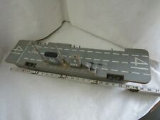 Vintage Foa Schwarz Wooden Aircraft Carrier Rolling Toy - 1950's